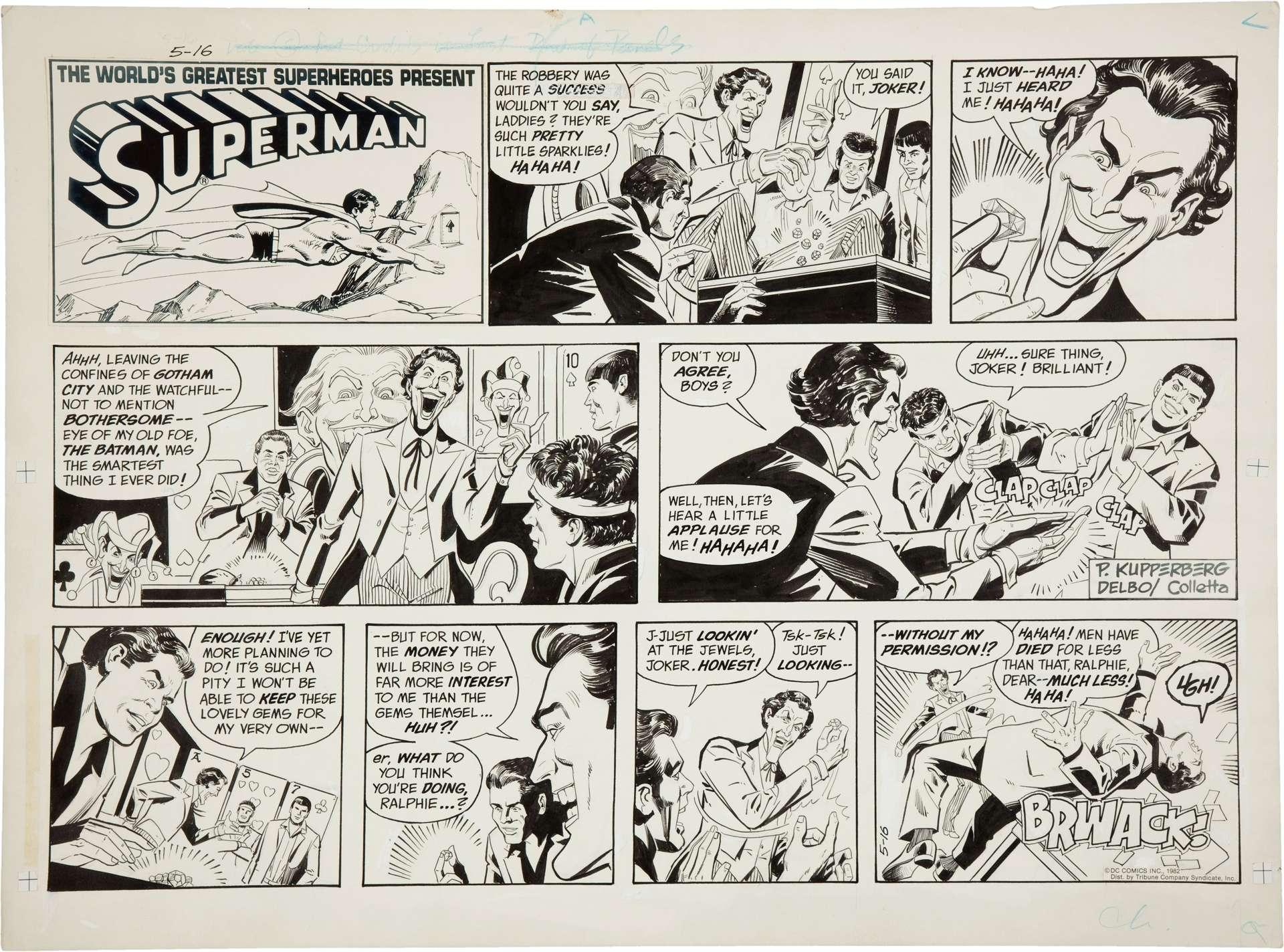 Superman Comic Strip