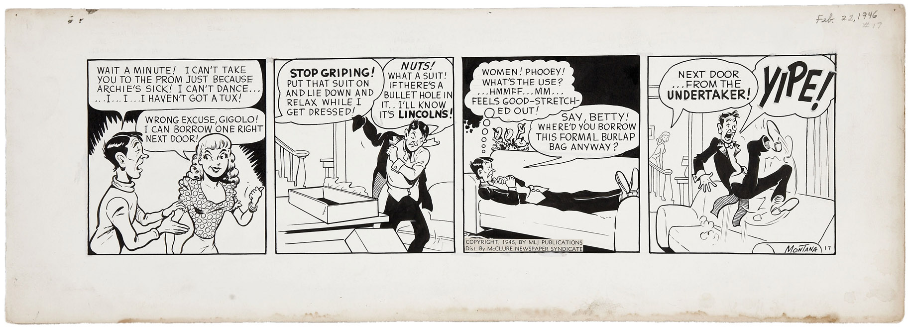 Archie daily newspaper strip are not