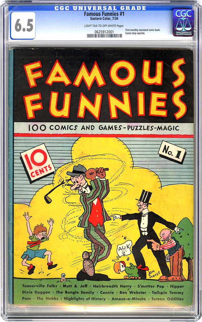 Image result for Famous Funnies #1 (July 1934)